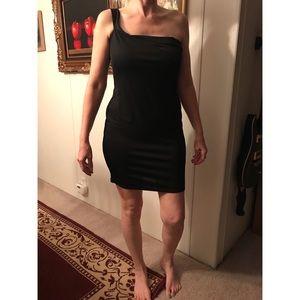 Boohoo Black Cold Shoulder BodyCon Dress